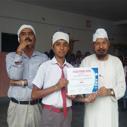 Winner of Talent Search Exam